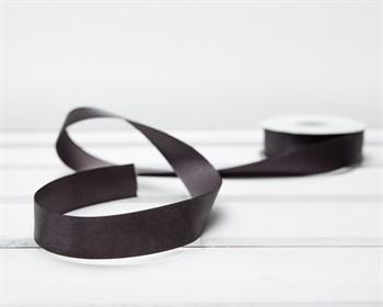 Лента атласная, 24 мм, темно-серая, 1 м