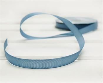 Лента репсовая, 12 мм, темно-голубая, 27 м