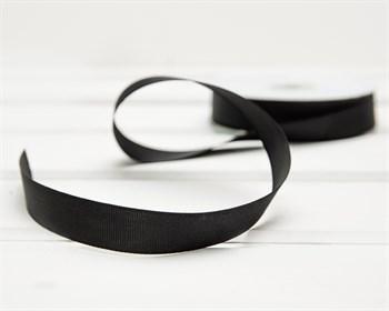 Лента репсовая, 20 мм, чёрная, 1 м