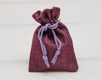 Мешочек подарочный из холщи, 7х9 см, фиолетовый, 1 шт.
