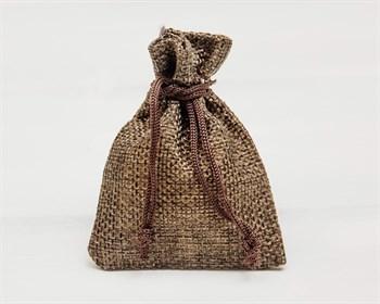 Мешочек подарочный из холщи, 7х9 см, коричневый, 1 шт.