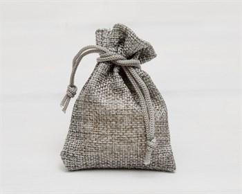 Мешочек подарочный из холщи, 7х9 см, серый, 1 шт.