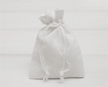Мешочек подарочный из холщи, 9х13 см, белый, 1 шт.