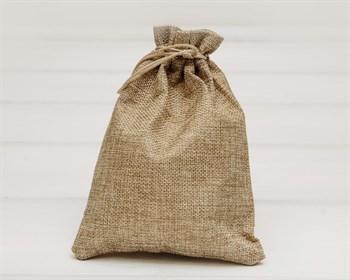 Мешочек подарочный из холщи, 14х20 см, цвет натуральный, 1 шт.