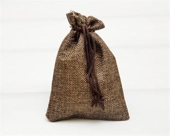 Мешочек подарочный из холщи, 9х13 см, коричневый, 1 шт.
