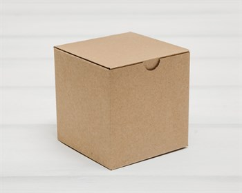 Коробка для посылок, 10х10х10 см, из плотного картона, крафт