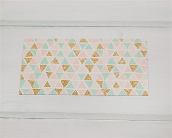 """Конверт для денег  """"Праздничные треугольнички"""", 16,5 х 8 см, 1 шт."""