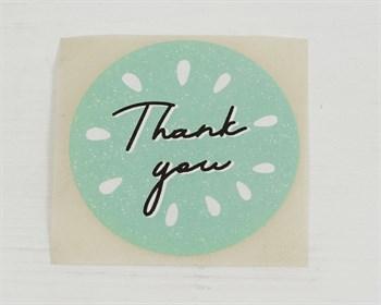 """Наклейка  """"Thank you"""", круглая, d=4 см, 1 шт."""