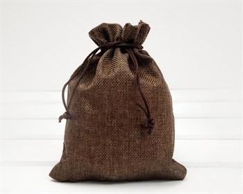 Мешочек подарочный из холщи, 14х20 см, коричневый, 1 шт.